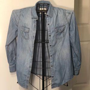 Arizona Jeans Denim Button Up Top size Medium